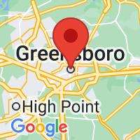 Map of GREENSBORO NC US