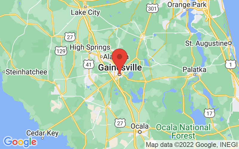 Map of Gainesville, FL US