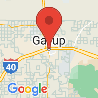 Map of Gallup, NM