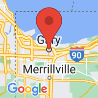 Map of Gary, IN