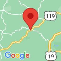 Map of Glenville, WV US