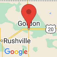 Map of Gordon NE US