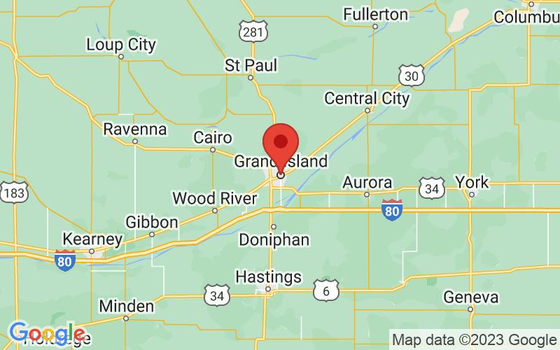 Map of Grand Island, NE US