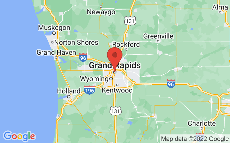 Map of Grand Rapids, MI US