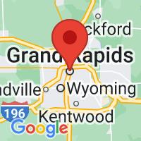 Map of Grand rapids MI US