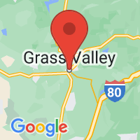 Map of Grass Valley, CA US