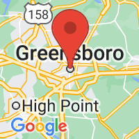 Map of Greensboro, NC