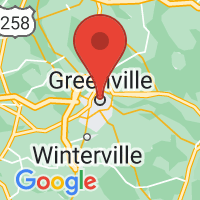 Map of Greenville NC US