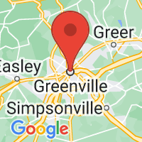 Map of Greenville, SC US