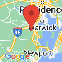 Map of Greenwich, RI US