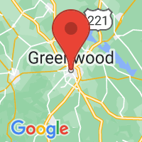 Map of Greenwood, SC US