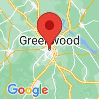 Map of Greenwood, SC
