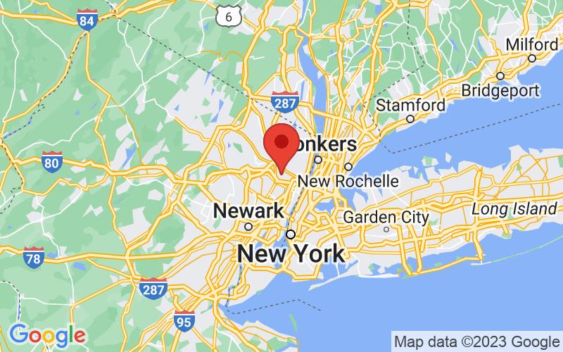 Map of Hackensack, NJ