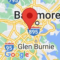 Map of Halethorpe, MD