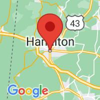 Map of Hamilton AL US