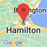 Map of Hamilton, ON CA