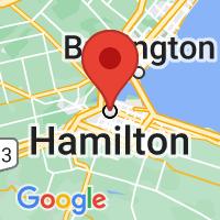 Map of Hamilton, ON CA