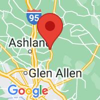 Map of Hanover, VA