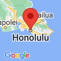 Map of Honolulu HI US