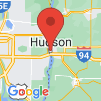 Map of Hudson, WI US