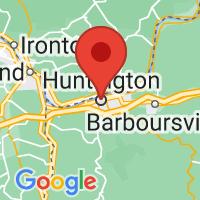 Map of Huntington, WV