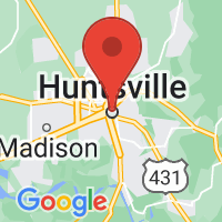 Map of Huntsville, AL US
