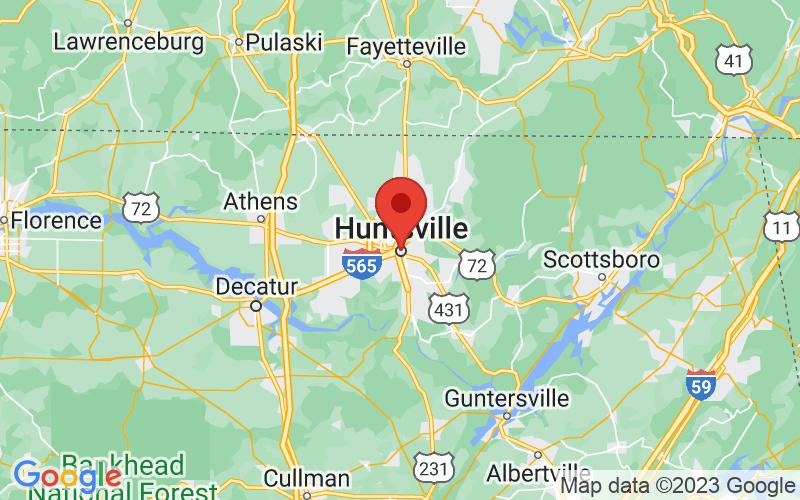 Map of Huntsville, AL US