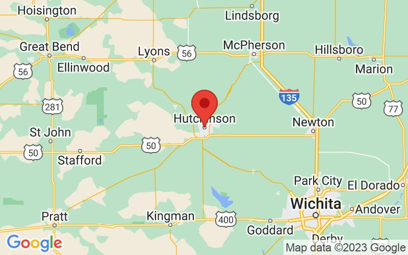 Map of Hutchinson, KS US