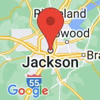 Map of Jackson MS US
