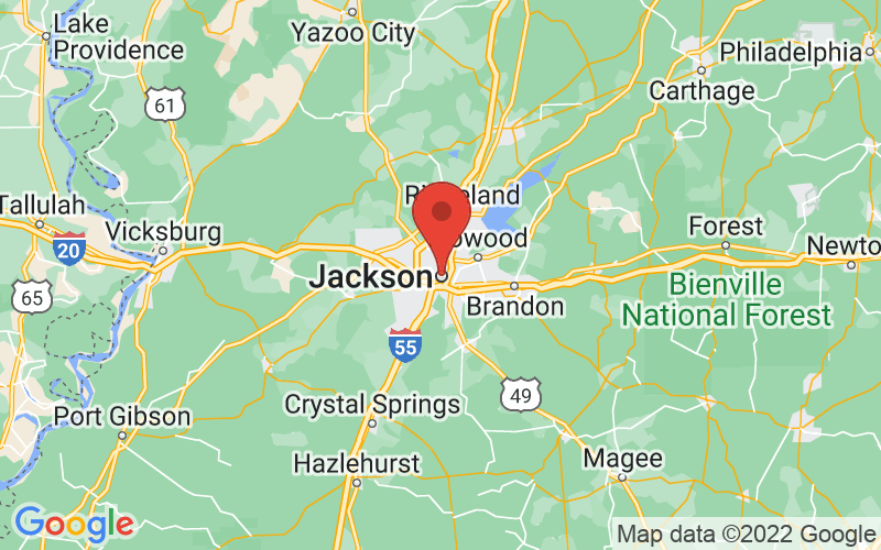 Map of Jackson, MS US