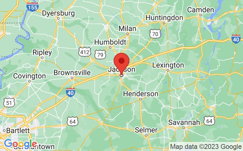 Map of Jackson, TN US