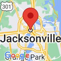 Map of Jacksonville FL US