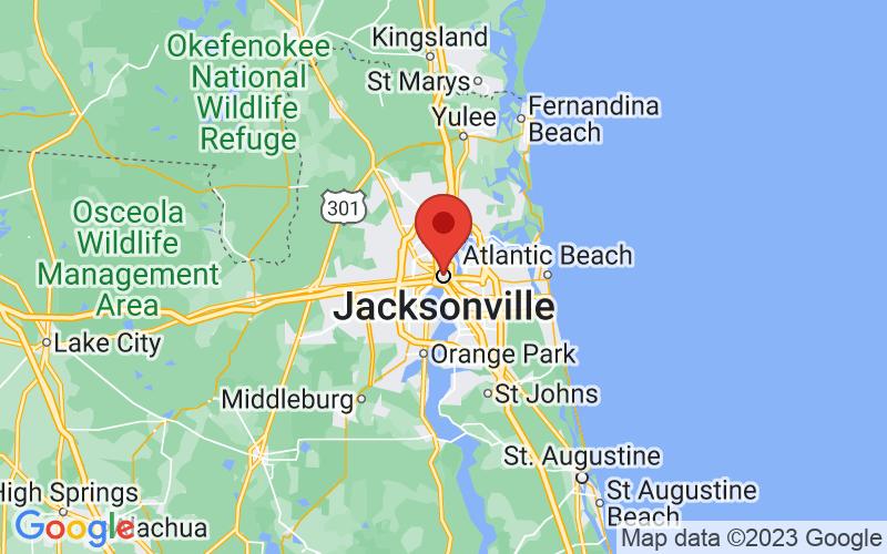 Map of Jacksonville, FL US