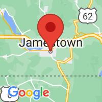 Map of Jamestown, NY US