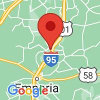 Map of Jarratt, VA