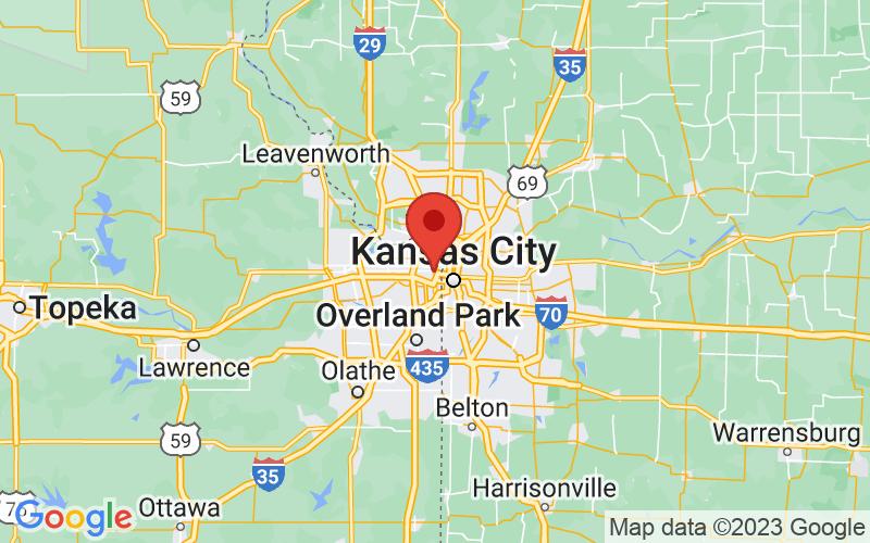 Map of Kansas City, KS US