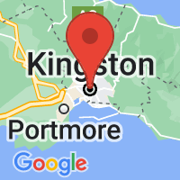 Map of Kingston, JM JM