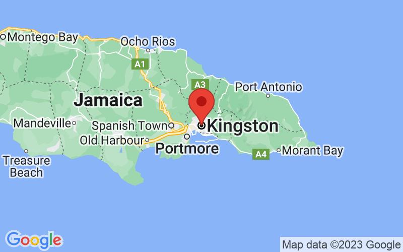 Map of Kingston, JM JM