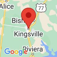 Map of Kingsville, TX