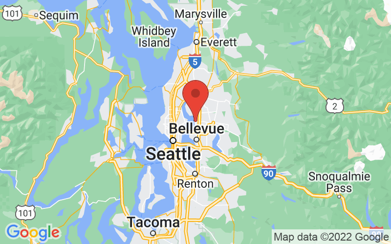 Map of Kirkland, WA