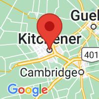 Map of Kitchener, ON