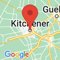 Map of Kitchener-Waterloo, ON CA