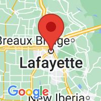 Map of Lafayette, LA US