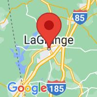 Map of Lagrange, GA
