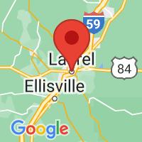 Map of Laurel, MS