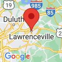 Map of Lawrenceville GA US