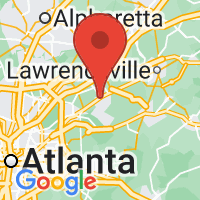 Map of Lilburn GA US
