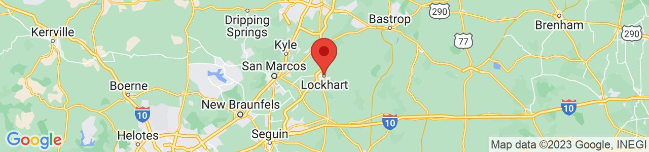 Map of Lockhart, TX