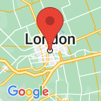 Map of London, ON CA