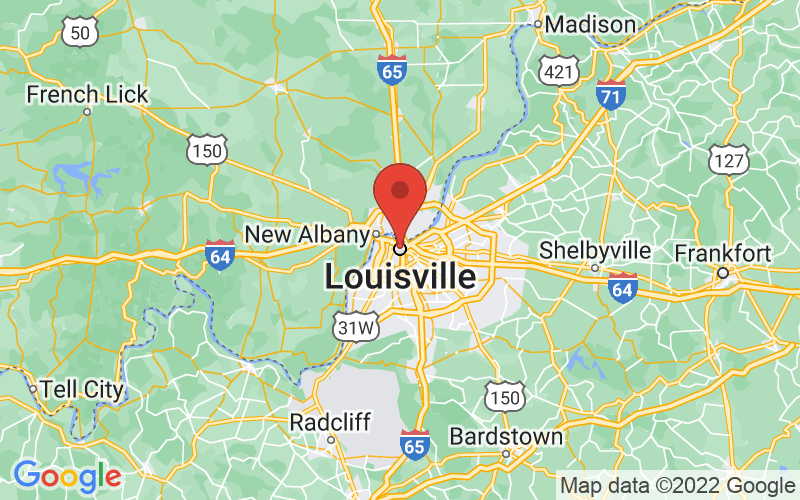 Map of Louisville, KY US